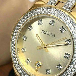 Bulova Men's 98B174 Crystal Accents Quartz Watch